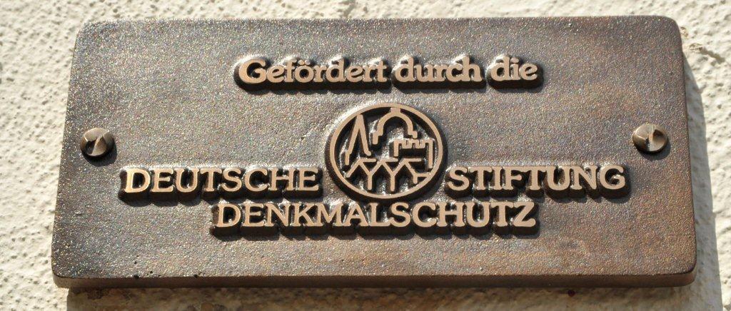 Foto Bronzeplakette